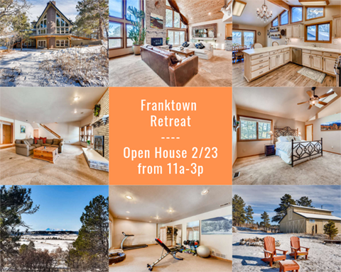 just listed in franktown open house
