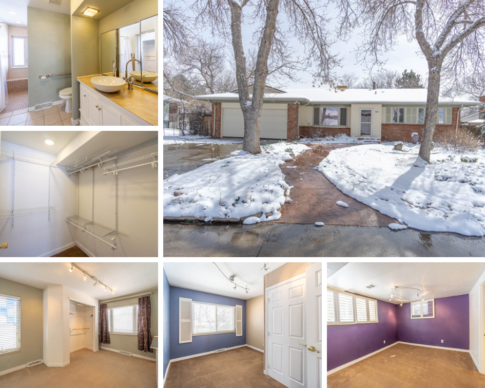 photos showing interior and exterior of ranch home for sale 1384 south wright street lakewood colorado
