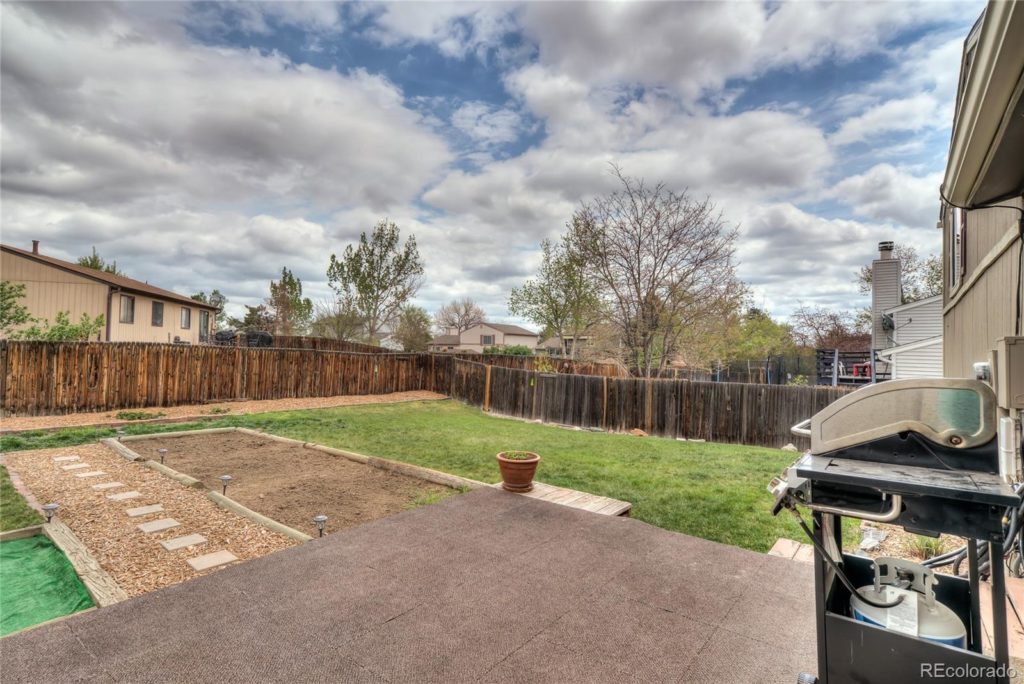 9025 W Bellwood Pl Denver back yard new listing